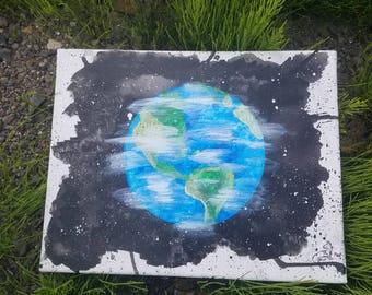 Original Earth Splatter Painting 10x13