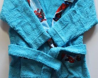 100% cotton kinder bathrobe wrapper ,sizes-2-4/4-6/6-8/8-10/12-14 years old