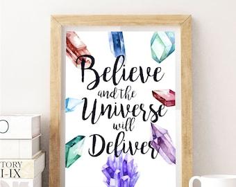 Believe Crystal Print