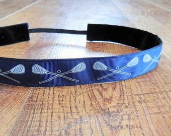 Navy blue Lacrosse headband. Blue lacrosse headband, women's lacrosse headband, girls lacrosse headband, lacrosse hair accessory