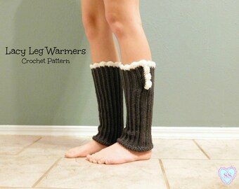 Lacy Leg Warmers Crochet Pattern, Leg Warmer Crochet Pattern, Crochet Pattern, Boot Socks Crochet Pattern, Ruffle Leg Warmers.
