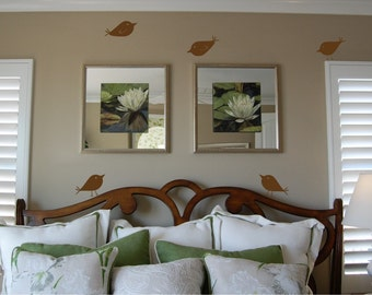 Set of Five Birds - Vinyl wall decal