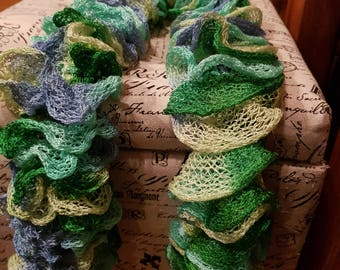 Hand knit Lacy Scarf.