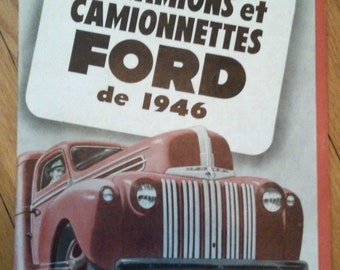 Flyer FORD TRUCK 1946 in french