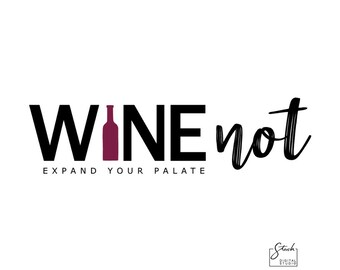 Wine Logo - Vino Logo - Restaurant Logo - Wine Bar Logo