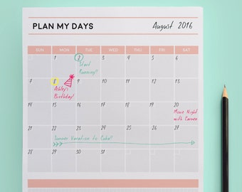 """Mix & Match Planner / Printable / Planner / Customize / Letter Size / 8.5""""x11"""" / Monthly / Weekly / Check List /PP1"""