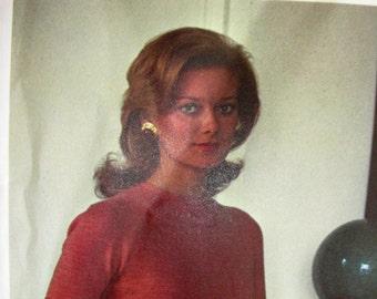 UNCUT * Vogue Paris Original Pattern 2626 by Designer: MOLYNEUX *  Beautiful Misses' Dress for Office or Party *Size 12..bust 34