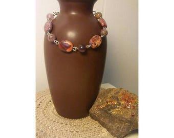 Imperial Jasper and Agate bracelet