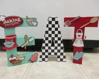 Retro Eat Paper Mache Letters Retro Kitchen Decor 50u0027s Kitchen Decor 50u0027s  Diner Design Ideas