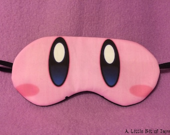 Cosplay Sleep Mask - Kirby from Kirby Video Games