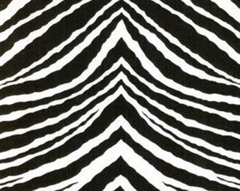 Zebra in Black fabric by Jennifer Paganelli- 1 Yard