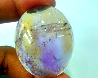 147.80 Ct 100% Natural Top Quality Loose Gemstone Ametrine Cabochon Size 38x46x12 mm