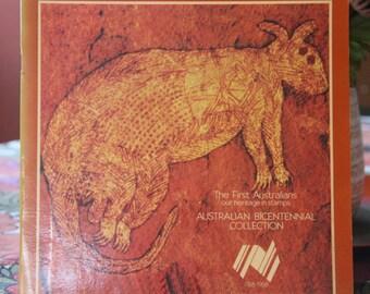 Gift set Australian 1988 Bicentennial Collection, mint vintage australian postage stamps. Indigineous Australia