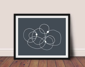 Abstract Wall Art, Modern Print, Minimalist Printable,Scandinavian Print,Line Drawing,Abstract Print, Circles Print,Printable Art,Modern Art