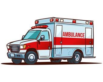 ambulance clip art etsy rh etsy com ambulance clipart gif ambulance clipart free