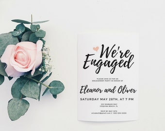 Wedding invitations etsy ie engagement invite engagement card printable engagement party invitation engagement party invitation template engagement party invite stopboris Choice Image