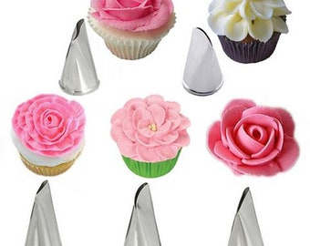 Frosting Tip Set, Jumbo Icing Nozzles, Jumbo Pastry Tips, Jumbo Frosting Tips, Jumbo Decorating Tubes, Decorating Tips