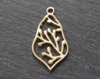Gold over Sterling Silver Moroccan Bud Pendant 22mm