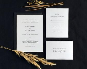 Printable Minimalist Wedding Invitation Suite