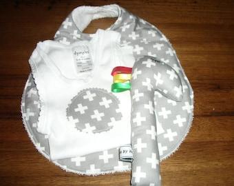 Handmade baby gift set, 3 piece baby set, newborn gift set, babyshower gift set