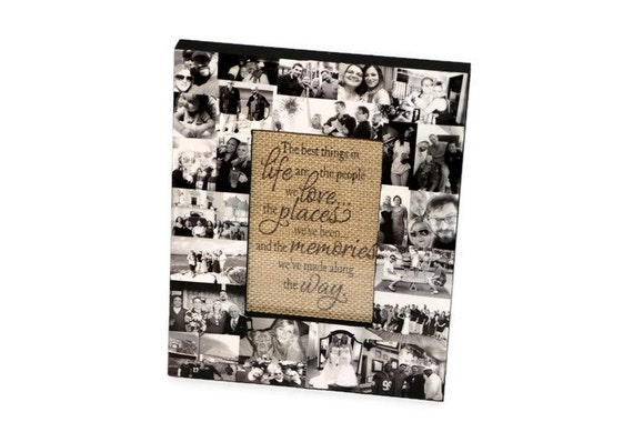 Gift for mom Personalized Picture Frame Collage Photo Gift
