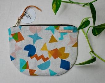 Sweet Shapes! On a linen half-moon bag
