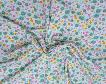 Modal Spandex Small Flower Print #13 Fabric Jersey Knit by the yard 8/16