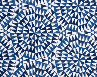 BEACON HILL SHAMIANA Geometric Linen Fabric 5 Yards Indigo