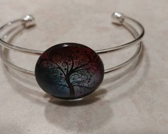 Silver plated Tree of Life bracelet