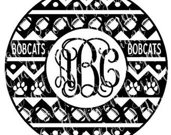 Bobcats Aztec Circle Digital Design