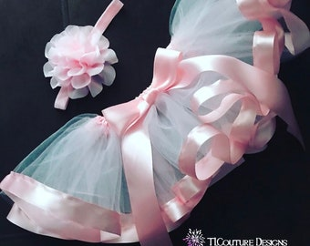 Ribbon Tutu w/matching headband