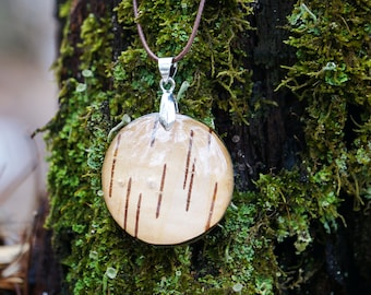 Real birch bark necklace Rustic jewelry Crystal clear resin wedding romantic necklace. Downy birch Botanical jewelry