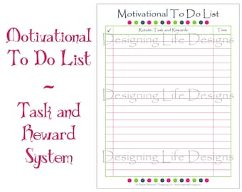 Editable To Do List - Task and Reward Printable PDF