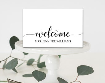 Welcome Place Cards Etsy - Place card setting template