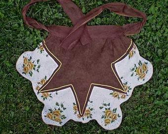 Vintage 50s Half Apron Handkerchiefs & Voile