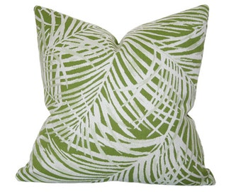 Heat Wave Palm Leaf Designer Pillow Cover - Custom Made-to-Order