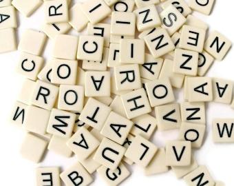 Vintage Anagram Letter Tiles set of 25