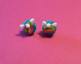 Macaroons unicorns earrings