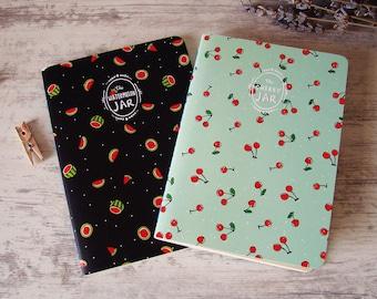 Fruit notebooks.