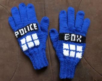 TARDIS Wool Gloves