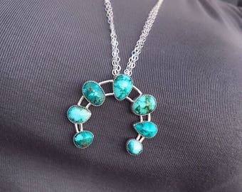 Sierra Nevada Turquoise Naja Pendant - Statement Necklace