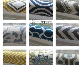 15% Off Sale Draft Stopper - Door Draft Stopper - Draft Blocker - Draft Dodger - Breeze Blocker - Door Snake - Window draft Stopper - door d