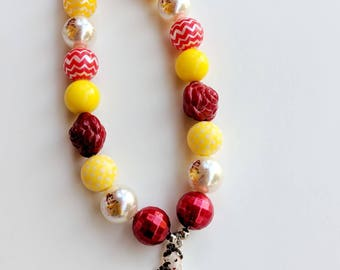 Belle Necklace, Belle Chunky Necklace, Belle Bubblegum Necklace, Birthday Belle Necklace, Princess Belle Chunky Necklace, Belle Princess
