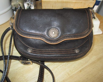 Brighton Brown Leather Crossbody Messenger Pouch
