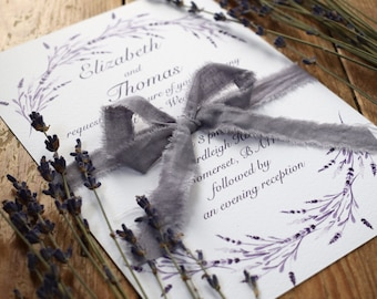 Lavender Wedding Invitation, Day/Evening Wedding Invitation