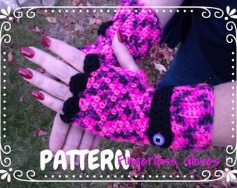 Banded Fancy Wrist Warmers ~ Crochet PATTERN - Design by kre8ivLizard - instant download
