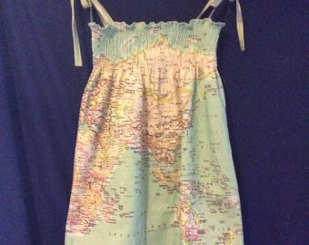 World map dress etsy around the world dress gumiabroncs Image collections