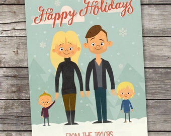 Custom Christmas Card & Family Portrait
