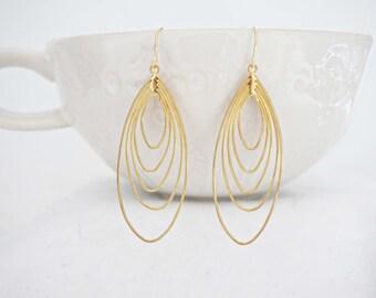 Gold Layered Teardrop Earrings