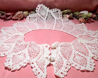 Vintage Lace Collar Hand Crochet Pineapple